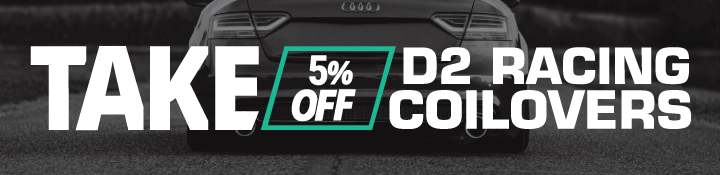 D2 Racing Coilovers 5% Off Black Friday 2020