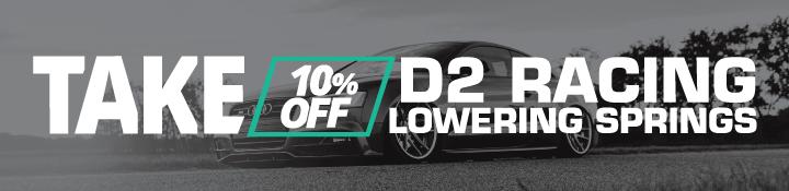 D2 Racing Lowering Springs 10% Off Black Friday 2020