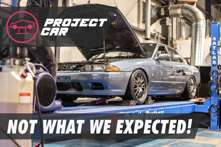 Our bagged R32 Skyline hits the dyno