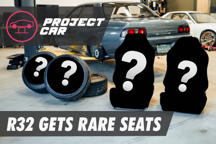 Rare JDM Seats and New Wheels for the R32