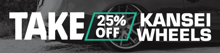 Kansei Wheels 25% Off Black Friday 2020
