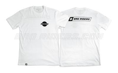 Bag Riders White 10 Year Logo Shirt - Front