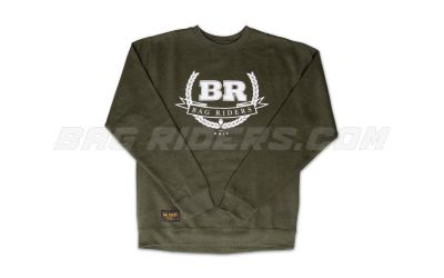 Bag Riders Crest Crew Neck - Military Green