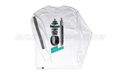 Bag Riders Exploded Long Sleeve - White